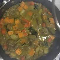 Curried lamb stew